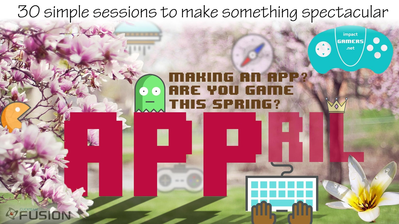 5/10/30 simple & short videos to take you/your class from knowing nothing about programming to building your own game; Launching April.