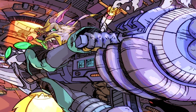 """Illustration by Damien Lopez based on the """"Ratchet & Clank"""" video game series"""