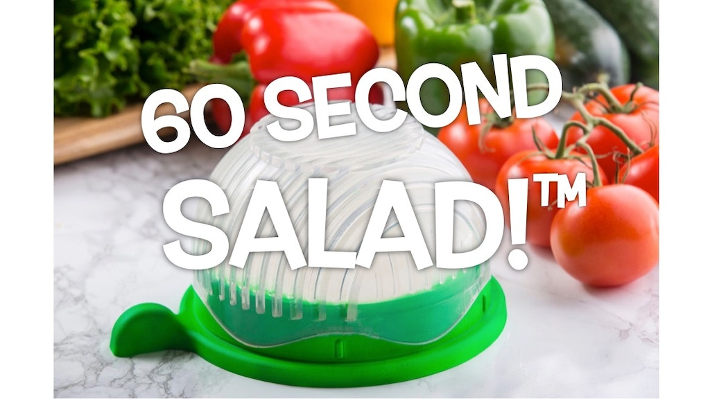 60 Second Salad Maker - Healthy, fresh salads made easy! project video thumbnail