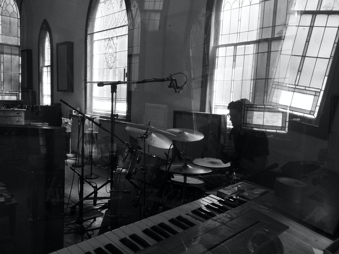 Willie tracking drums at Electric Wilburland