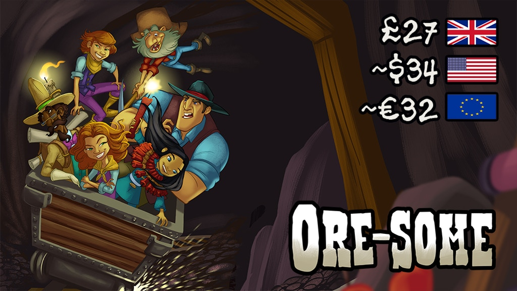 ORE-SOME! A Wild West strategy game for families & friends. project video thumbnail
