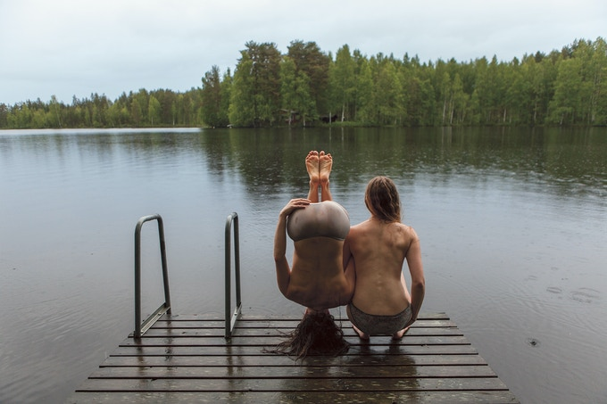 The original image, taken in Finland (2015) on a lake in a forest near the Russian border