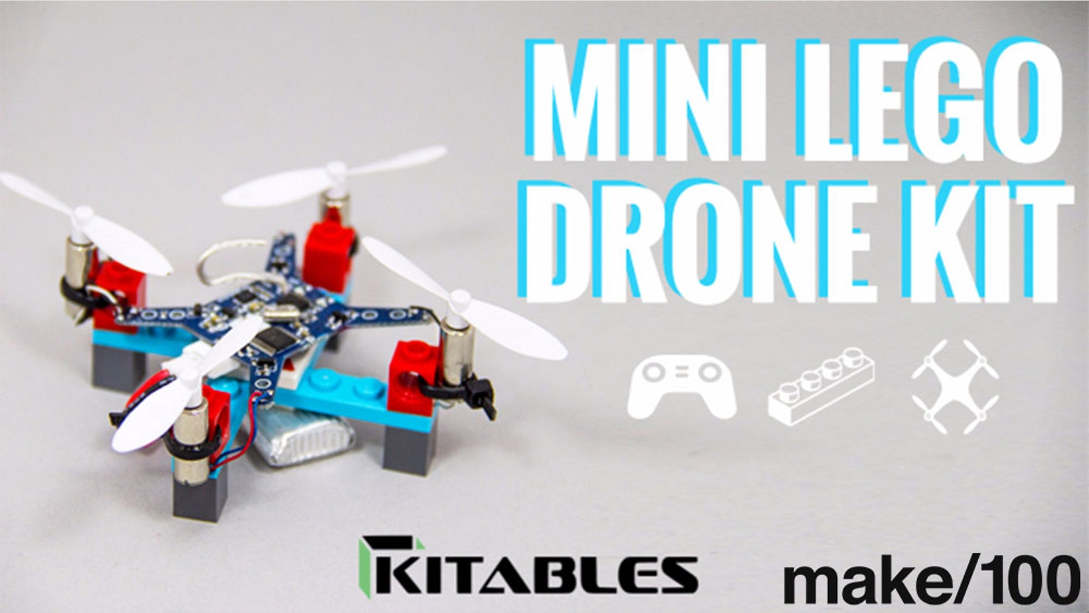 Elevate Legos to a whole new level! The Mini Lego Drone kit gives you everything you need to build your own functioning RC Drone.