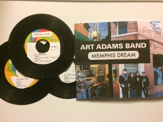 Prototype of Memphis Dream Box Set Project of three 45 RPM discs Art Adams Band recorded at Sun Studio 2016.