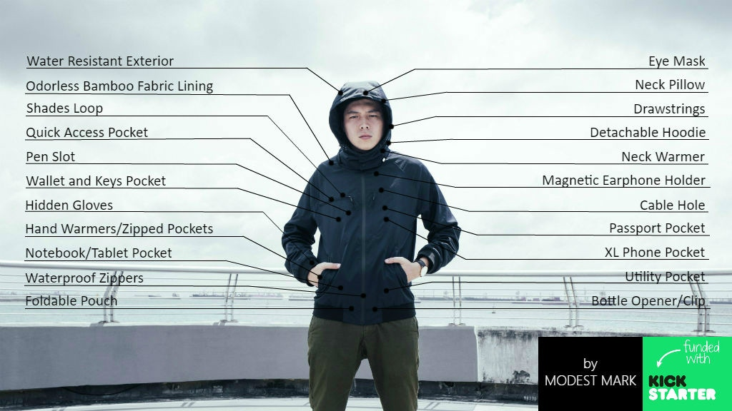 Sheer| The Ultimate ODORLESS & WATER RESISTANT Travel Jacket project video thumbnail