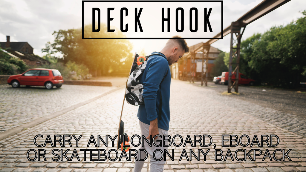 Deck Hook- Carry any Longboard or Skateboard on any Backpack project video thumbnail