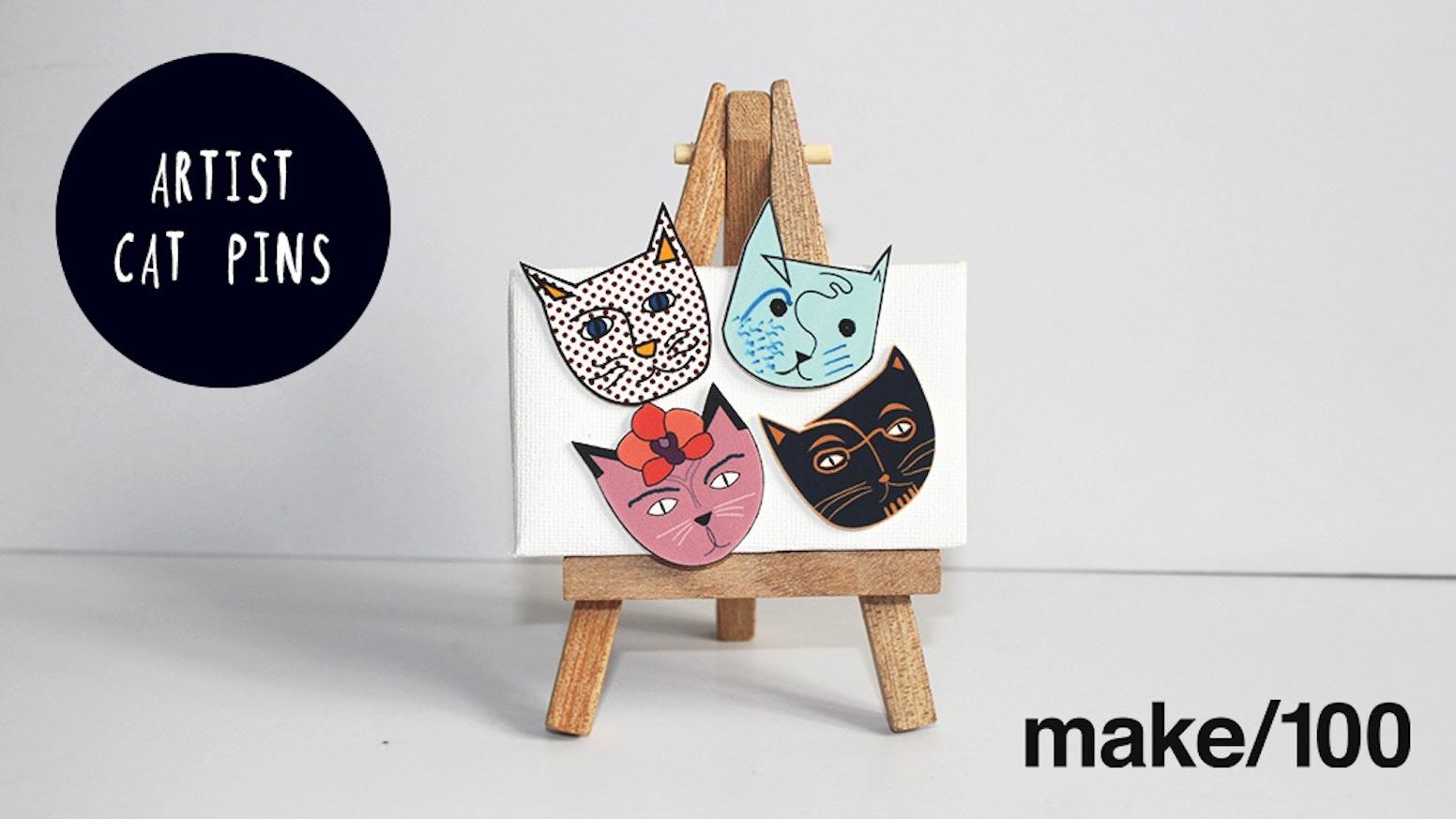 Artist Cat Enamel Pins by Nia Gould — Kickstarter