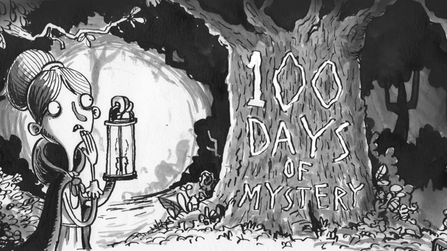 Every day for 100 days I will illustrate a scene from the world of Bertram Fiddle and then combine them in a book.