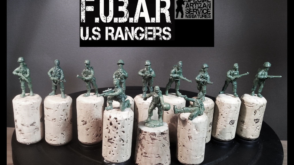 Project image for Special Artizan Service Presents: F.U.B.A.R 28mm WW2 Rangers (Canceled)