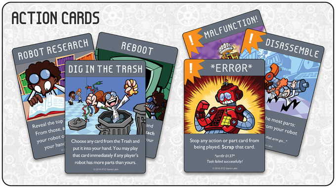 These are cards that let you do things like look at extra cards or sabotage your opponent.