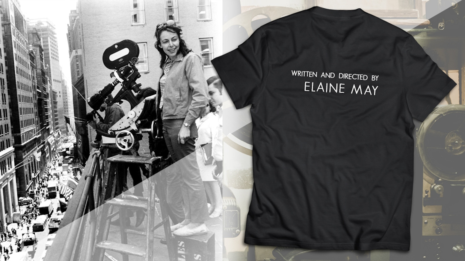 Elaine May lovers should wear their affection for the world to see. This limited edition tee is a tribute to the inimitable filmmaker.