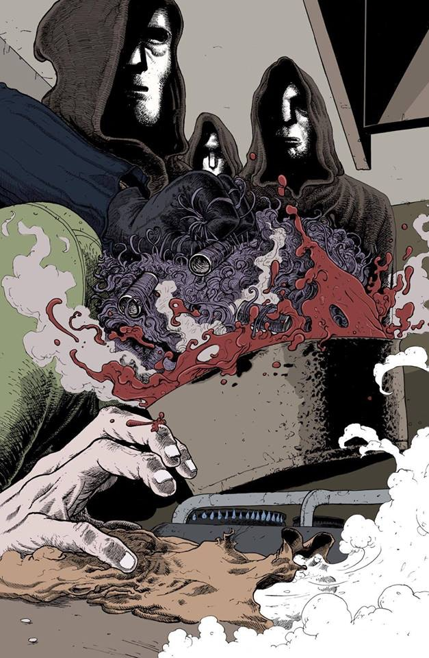 Clark Bint art from the upcoming Murder Most Mundane. NOT a picture of Matt - he always takes his hair rollers out before getting murdered in strawberry jam.