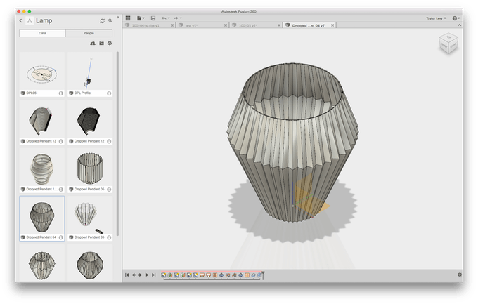 Work in progress screenshot using Fusion 360