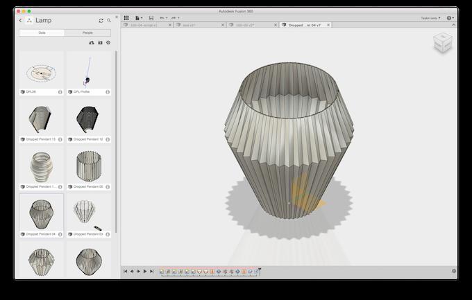 Work in progress screenshot using Fusion 360