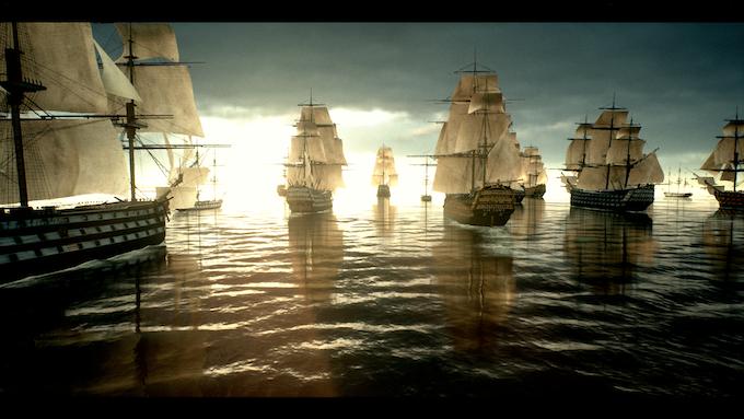 (In-Game screenshot) A fleet of British 1st rates
