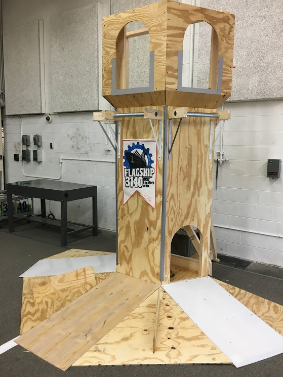 We also built 2 Castle Towers for scoring.