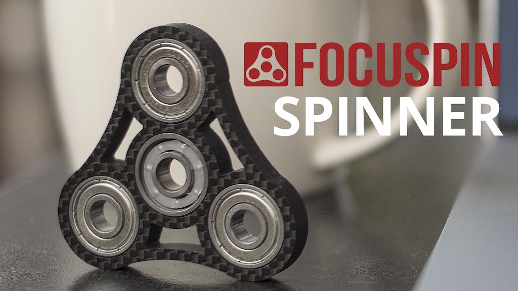 FOCUSPIN - Worlds First Carbon Fiber Fidget Spinner Desk Toy project video thumbnail