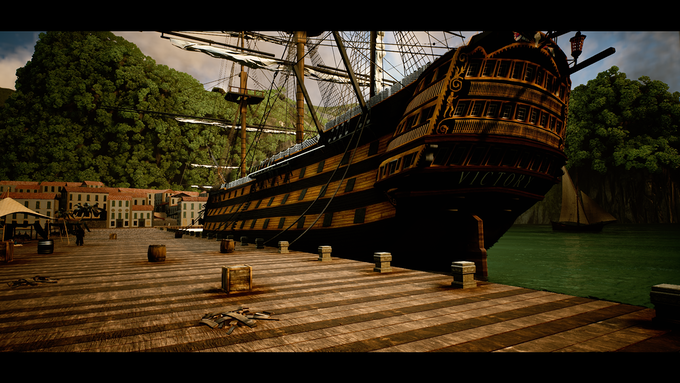 (In-Game screenshot) HMS Victory loading up in Havana