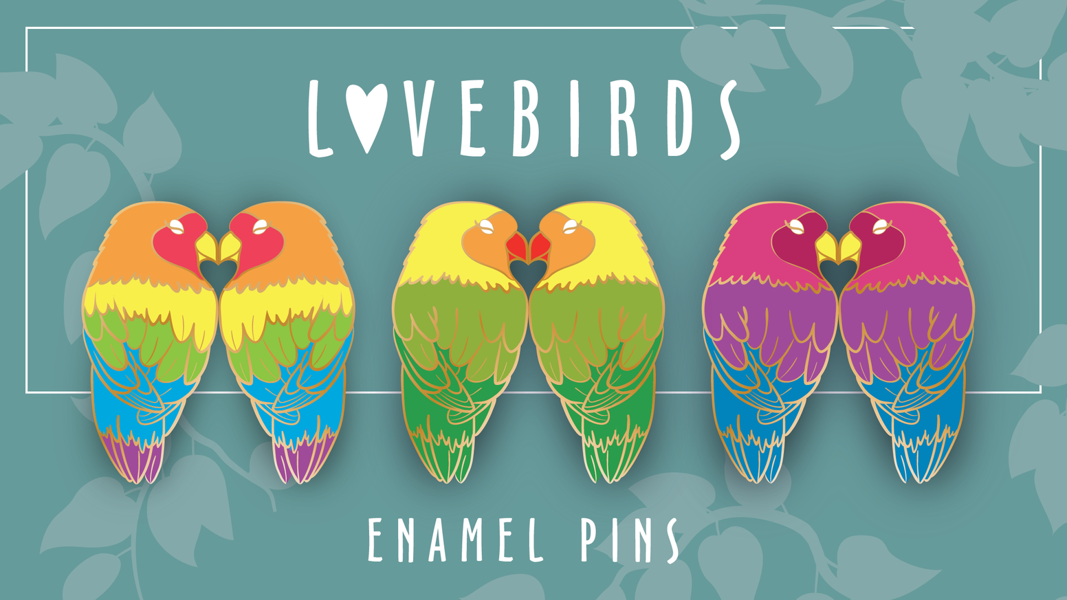 Lovebirds by Amy Ashton » Final pins — Kickstarter