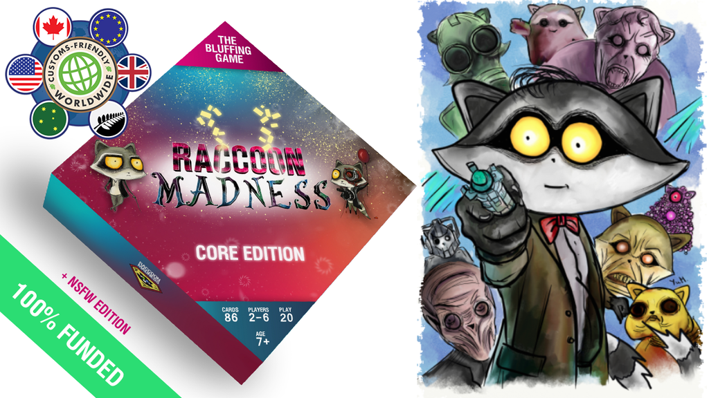 Raccoon Madness Game project video thumbnail