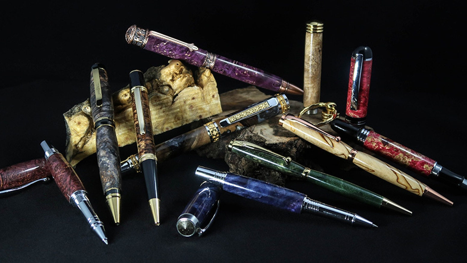 Beautiful handmade pens made from exotic & domestic hardwood burls & spalted woods. If you missed this project, you can order penz at the site below. Follow us on Facebook, Twitter, and Instagram.