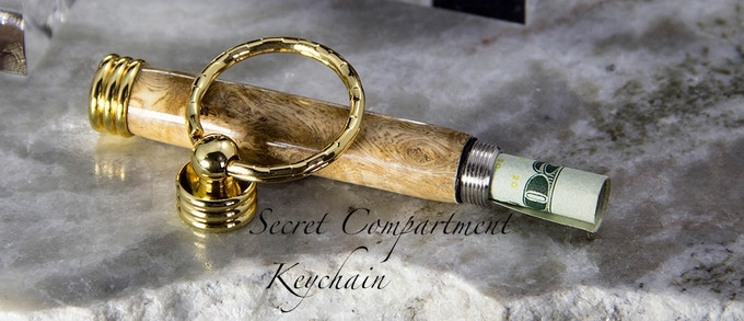 Shown In Natural Amboyna Burl & Gold Accents