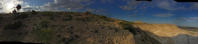 Photo by walking guide Daulet Begendikov. The steppes of Kazakhstan.