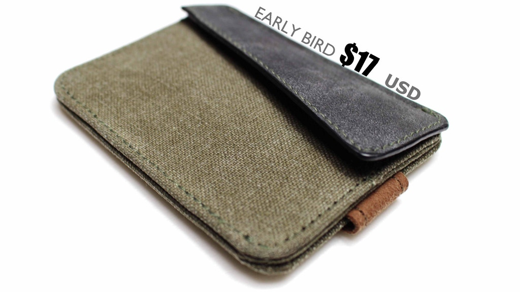 MiniCap 2.0 comeback campaign: Unique canvas slim wallet. :) project video thumbnail