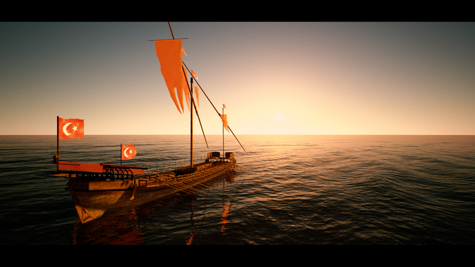 (In-game screenshot) A Level 4 Turkish galley