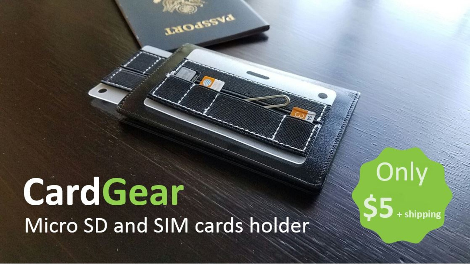 The thinnest organizer for your Micro SD cards and SIM cards. Perfect size for travelers, photographers, and everyone's wallet