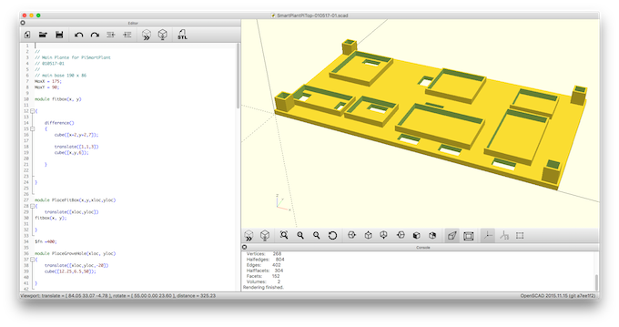 OpenSCAD files and STL files Provided