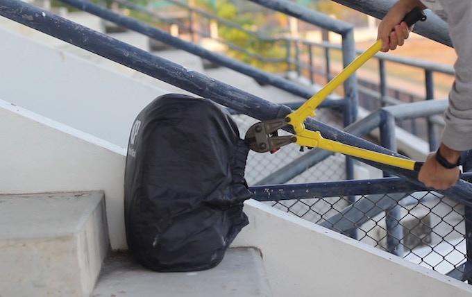 safe cover by option pack backpack cover anti theft by op option pack kickstarter. Black Bedroom Furniture Sets. Home Design Ideas