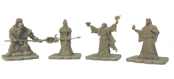 The Limited Edition Wizard Expansion includes 12 figures - 3x each of the Air, Earth, Water and Fire Wizards