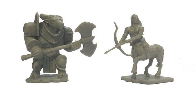 The Beastmen Expansion includes 13 figures - 5 minotaurs, 5 centaurs and 3 trolls