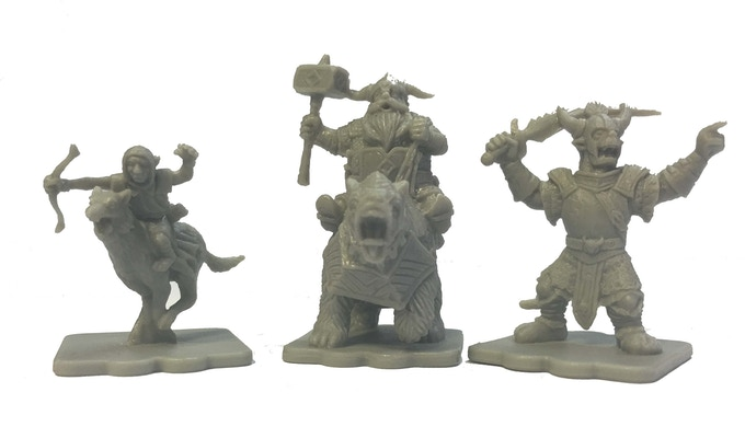 The Elites Expansion includes 15 figures - 5x each of goblin wolf riders, dwarf bear riders, and great orcs