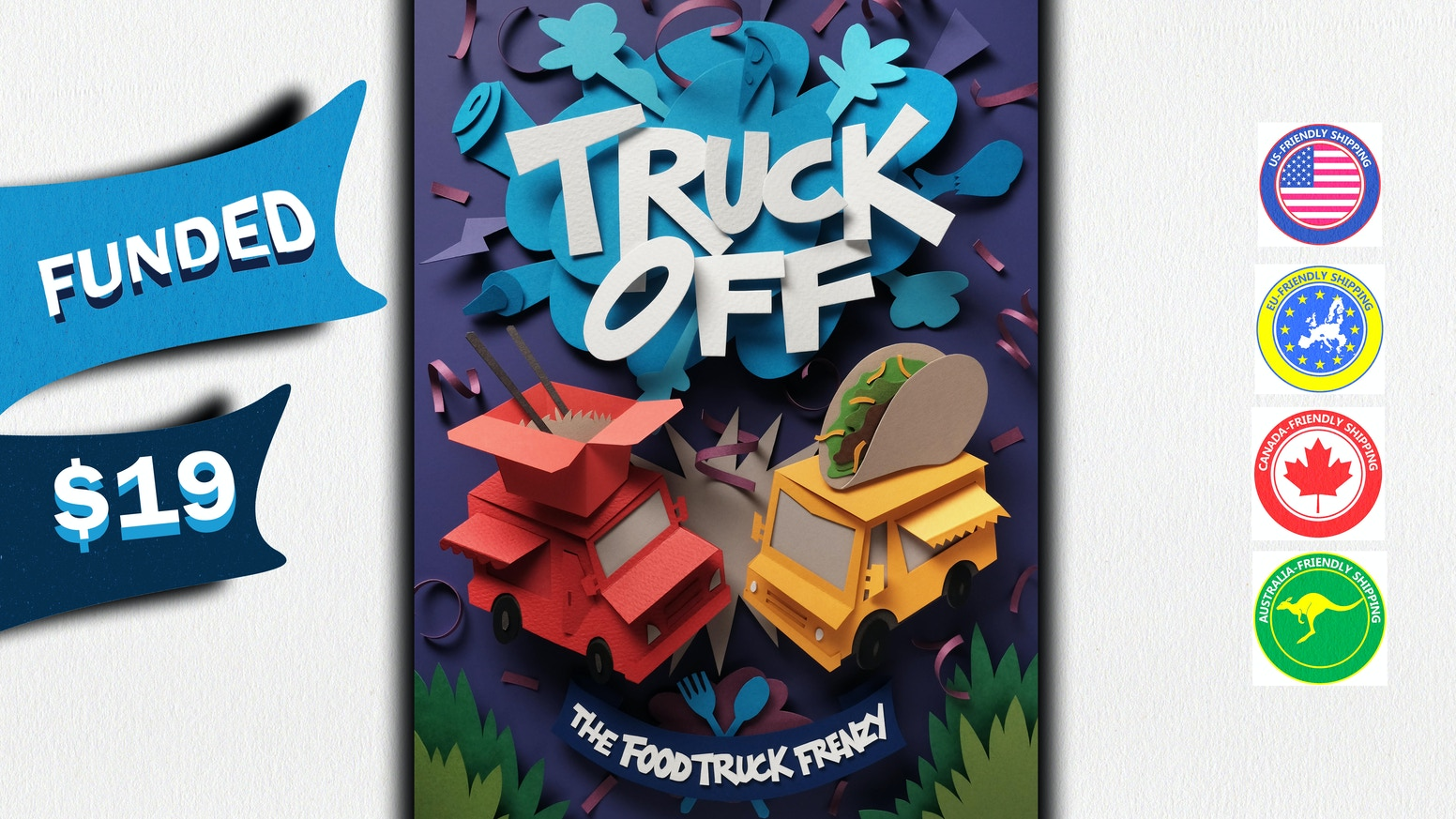 "Live the ""American Dream on Wheels"" as a Food Truck Titan in this zesty 2-6 player card game with plenty of bite."