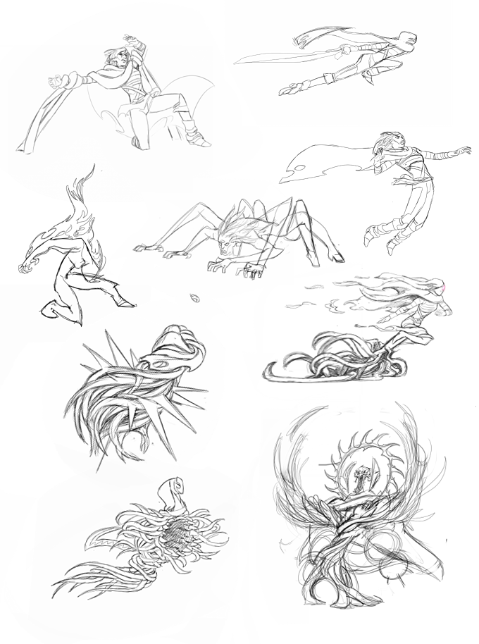 A selection of concept sketches