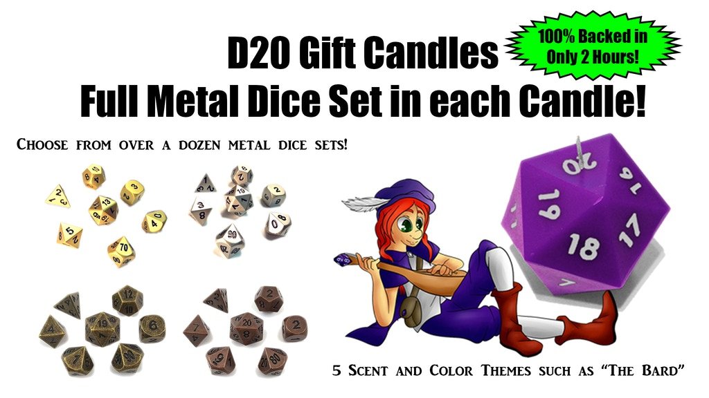 D20 Prize Candles with Metal Dice Sets Inside! project video thumbnail
