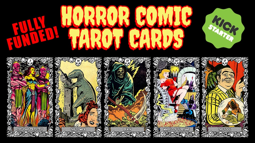 Horror Comic Tarot Cards project video thumbnail