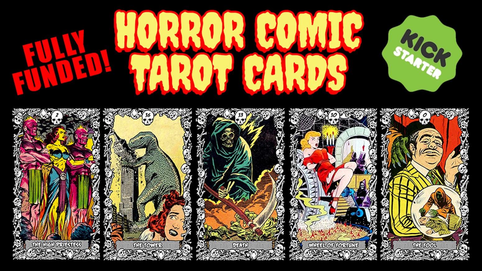 Horror Comic Tarot Cards by Chris