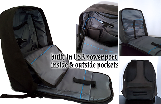Ninja Backpack 1st With Hidden Expansion Bag And Zipper