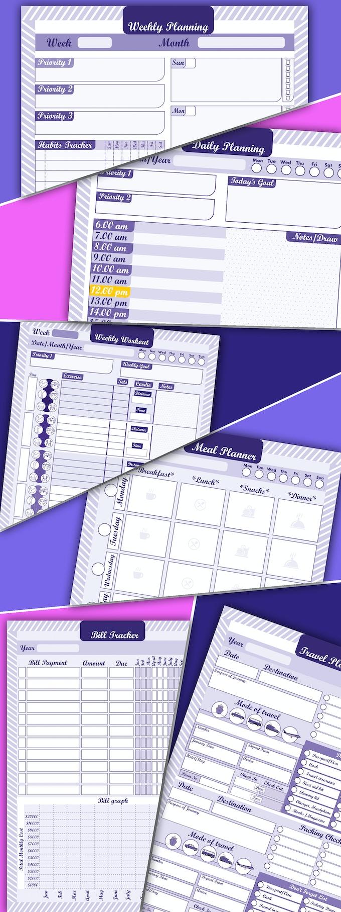 Kickstarter Calendar Planner : Productive desk pad planners printable full collection