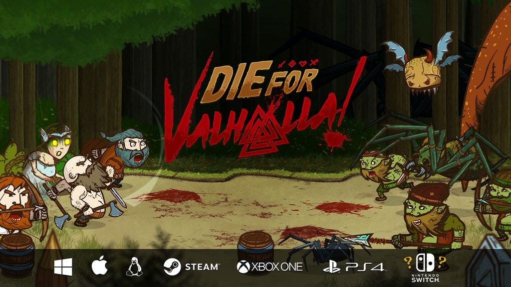 Die for Valhalla! - beat 'em up arcade adventure project video thumbnail