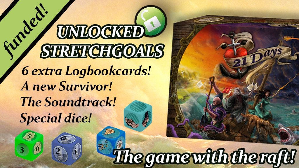21 Days, a cooperative survival boardgame for 1 - 4 players. project video thumbnail
