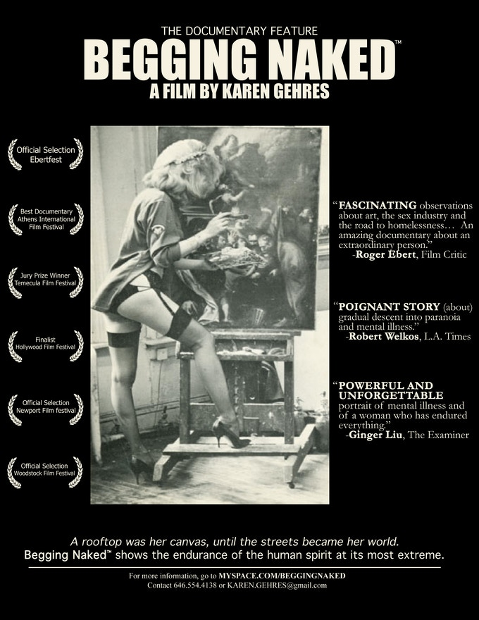 My first documentary BEGGING NAKED