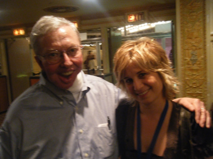 With the great Roger Ebert. He was a true champion of my work.