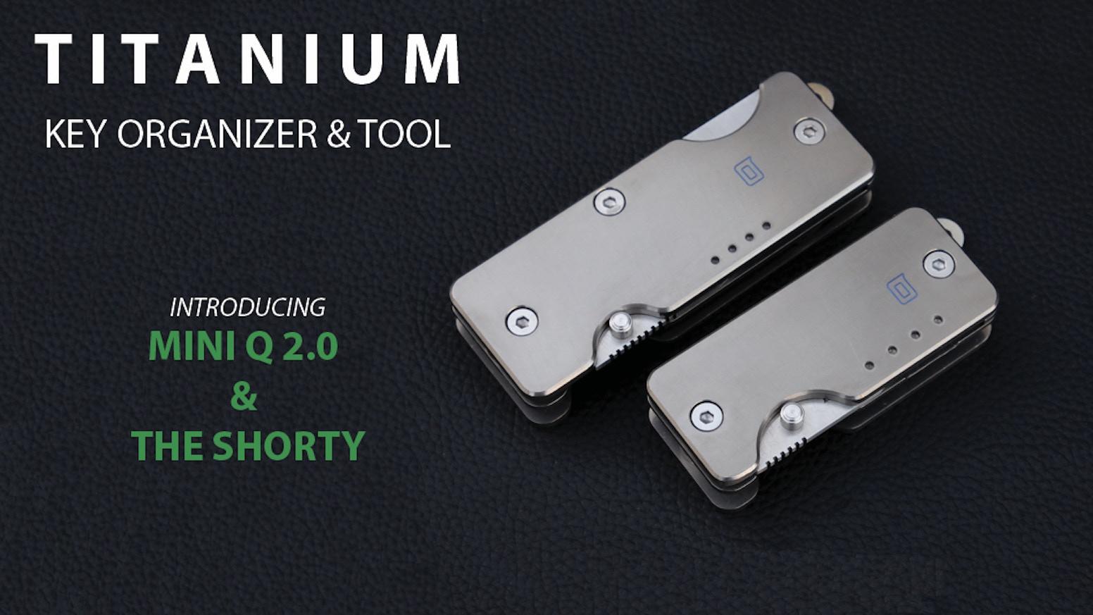 Titanium Key Organizer & Knife for your Everyday Carry!