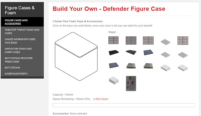 Select you foam for the Defender