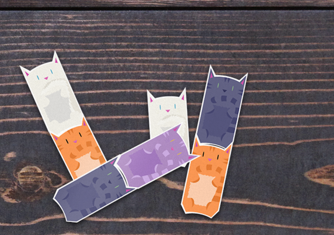 One set of stickers will contain 8 cats, with 2 of each color