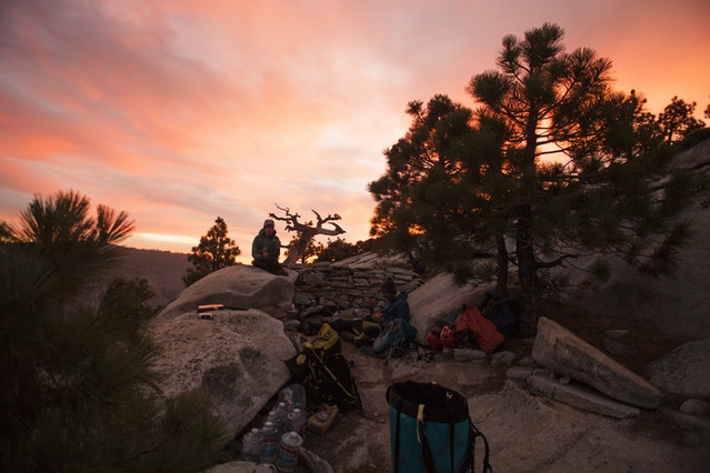 Our camp on top of El Capitan, one of my favourite parts of the trip.